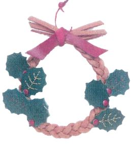 クリスマス革工芸